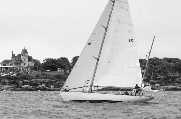Dorade in Newport, R.I. preparing for the start of the 2015 Transatlantic Race (Photo Credit: Billy Black