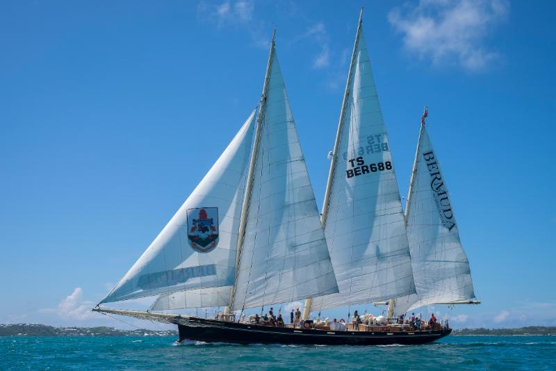 Participating as flagship of the race, The Bermuda Sloop Foundation's sail training ship, Spirit of Bermuda © Captain Stuart Birnie