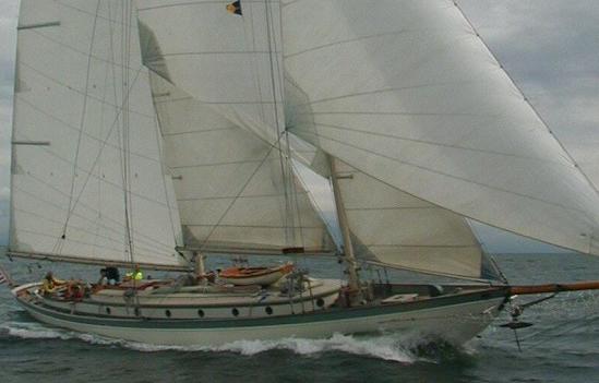 Bowdoin b crowninshield martha classic sailboats for 68 garden design gaff rigged schooner