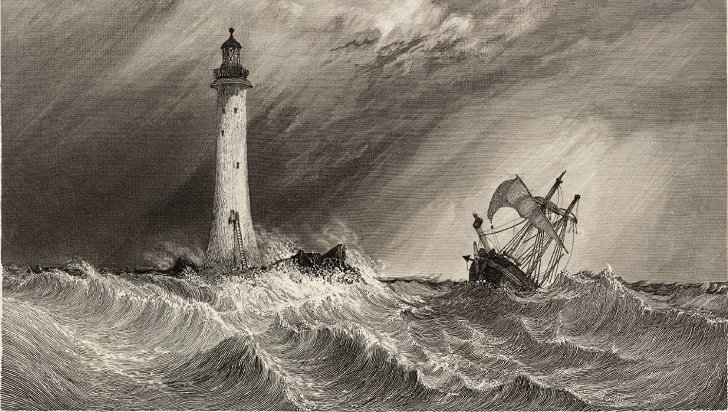 Eddystone Lighthouse, engraved by W.B. Cooke 1836 Clarkson Frederick Stanfield 1793-1867 Transferred from the Library 1989 http://www.tate.org.uk/art/work/T05696